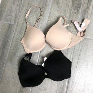 Victoria's Secret PInk Pushup Bra Set of 2 30B